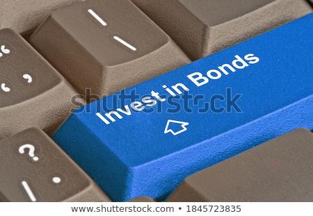 Niebieski roi kluczowych klawiatury nowoczesne Zdjęcia stock © tashatuvango