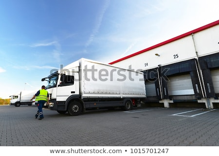 Stock photo: International delivering goods trailer