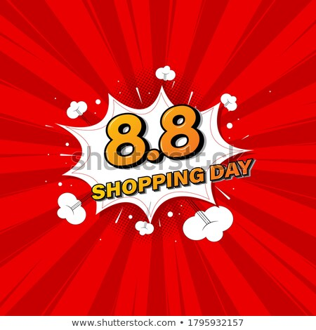 sale text pop art red background stock photo © studiostoks