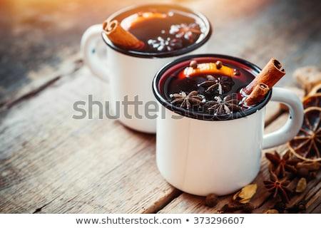 mug of mulled wine stock photo © OleksandrO