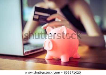 couple holding little piggy bank Stock photo © IS2