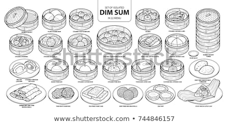 Collection of Dim Sum Stock photo © zhekos