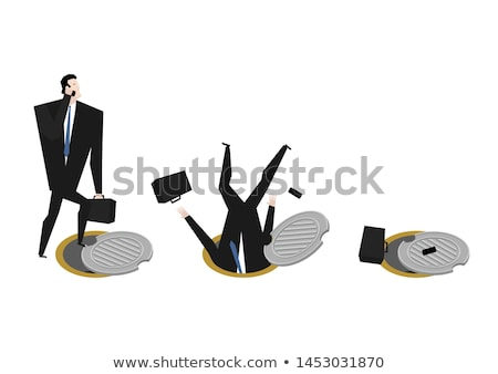 Zakenman riool ingesteld baas ondergrondse man Stockfoto © MaryValery