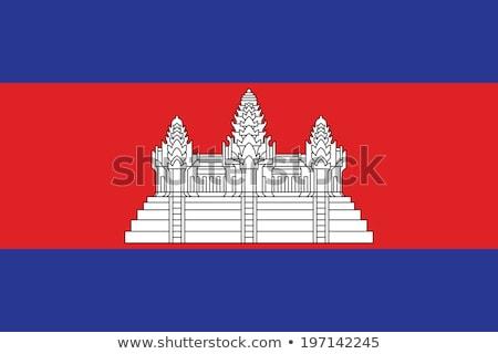 Camboja bandeira branco coração projeto assinar Foto stock © butenkow