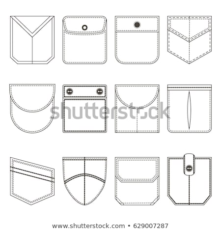 set of different t shirts from thin lines vector illustration stock photo © kup1984