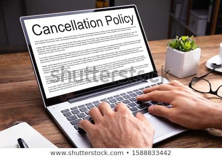Cancelamento acordo caneta secretária negócio lei Foto stock © Zerbor