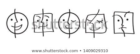 símbolo · conjunto · abstrato · símbolos · usado · ícone - foto stock © OliaNikolina