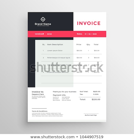creative invoice temaplate design for your business Stock photo © SArts