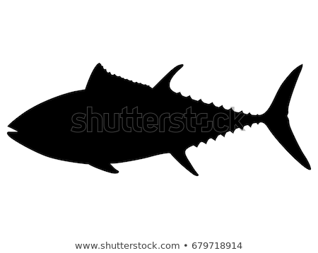 силуэта тунца икона линейный стиль воды Сток-фото © Olena