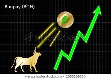 Bonpay Crypto Currency Coin. Vector Coin Pictogram of BON. Stock photo © tashatuvango