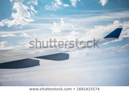 Samolot skrzydła wewnątrz handlowych jet Zdjęcia stock © IS2