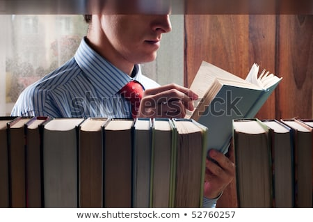 Mann · Auswahl · Buch · Bildung · Bibliothek · College - stock foto © kzenon