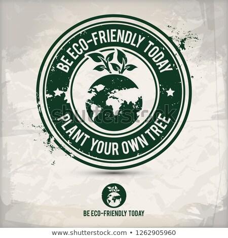 alternative recycling day stamp Stock photo © szsz