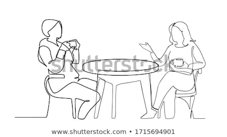 Two men and two women having a meeting Stock photo © IS2