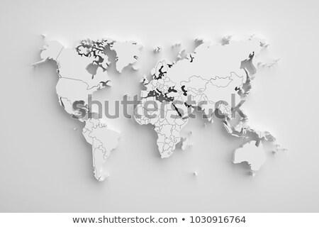 Wereldkaart 3D sterren mijn eigen Stockfoto © ixstudio