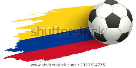 Soccer ball and flag of Colombia. Victory kick goal Stock photo © orensila