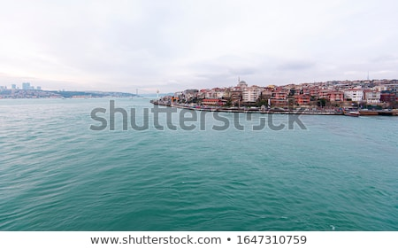 landscape panoramic view from the sea to the historical part of istanbul turkey stock photo © artjazz