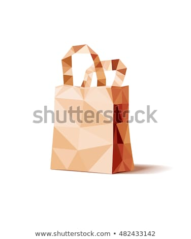 Kleurrijk veelhoek winkelen vector formaat boodschappentas Stockfoto © amanmana