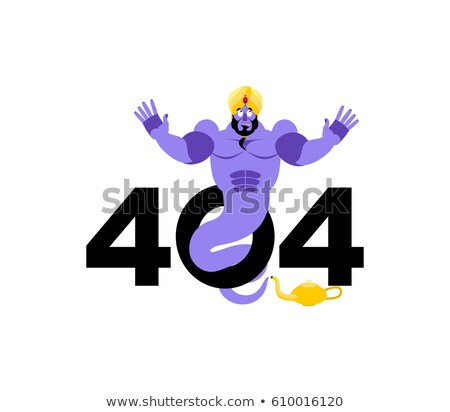 Error 404. Genie surprise. Page not found template for web site. Stock photo © popaukropa
