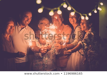Foto stock: Party People Women And Men Celebrating New Years Eve 2019