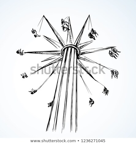 old high wheel hand drawn outline doodle icon stock photo © rastudio