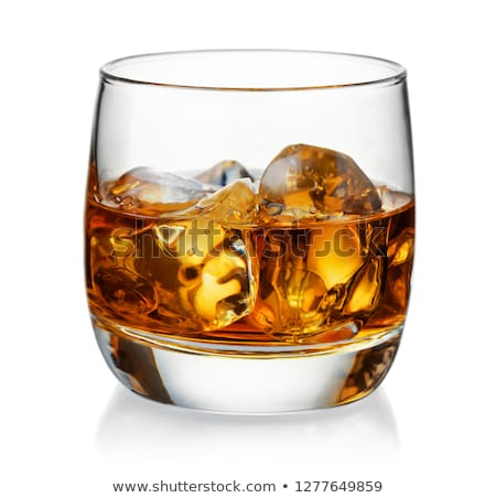 Whiskey with ice cubes in a tumbler glass Stock photo © pakete