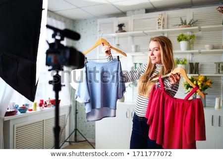 Set of Shopaholic Girls Stylish Dresses and Jeans Stock photo © robuart