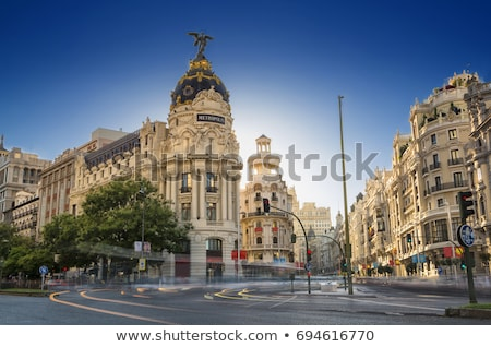 gran via in madrid spain stock photo © boggy