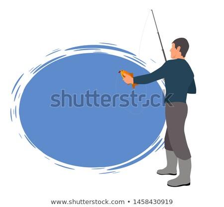 Pescador modelo forma cartaz texto amostra Foto stock © robuart