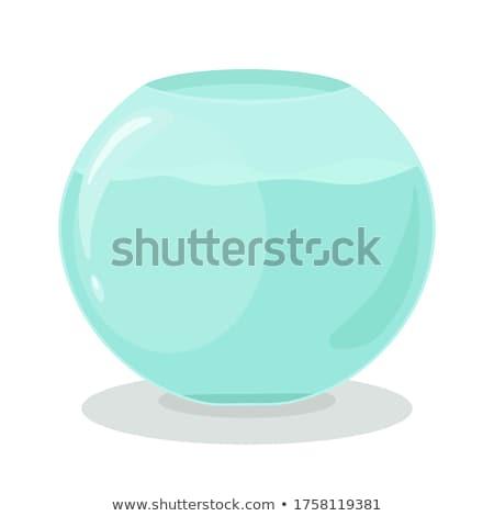 Aquarium in Glass Container Vector Illustration Stock photo © robuart