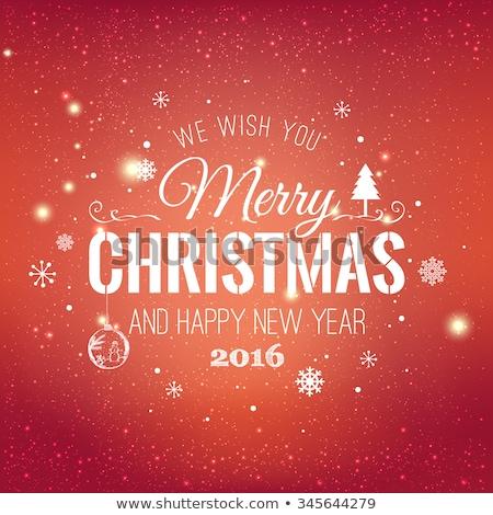 Alegre Navidad ilustración brillante copo de nieve tipografía Foto stock © articular
