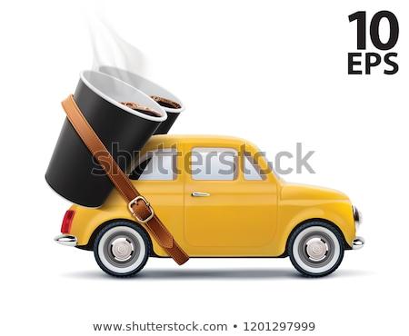 Realistic yellow car vector illustration Stock photo © YuriSchmidt