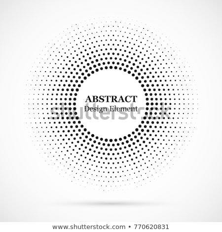 Szett körkörös minták klasszikus retro elemek Stock fotó © kostins