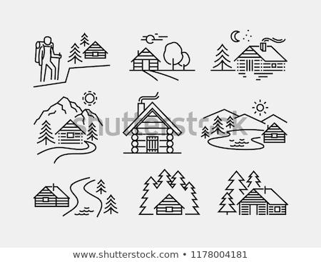 木製 · 家 · 実例 · 白 · 建物 · モデル - ストックフォト © bluering
