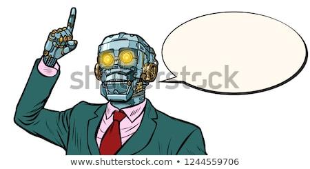 emotional speaker robot, dictatorship of gadgets Stock photo © studiostoks
