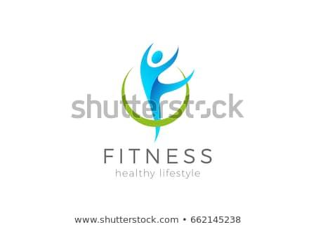 healthy yoga man vector icon logo Stock photo © blaskorizov