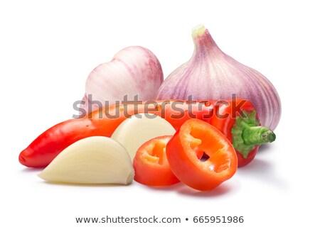 Hot wax paprika with garlic, paths Stock photo © maxsol7