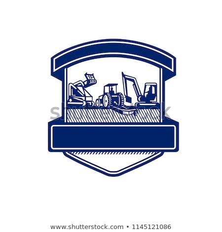 Mulching Bush Hogging Excavation Services Badge Stock photo © patrimonio
