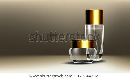Cosméticos vidrio anunciante vector jar cara Foto stock © pikepicture