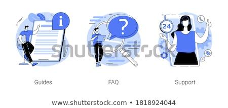 Felhasználó útmutató leszállás oldal néz információ Stock fotó © RAStudio
