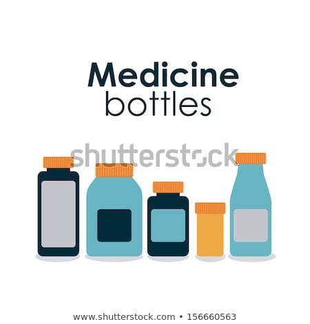 Médication bouteilles affiche plastique vecteur isolé Photo stock © robuart