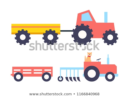 assinar · trator · colheita · campo · acelerar · sujeira - foto stock © robuart