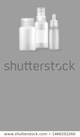 плакат реалистичный бутылок уха глаза Сток-фото © robuart