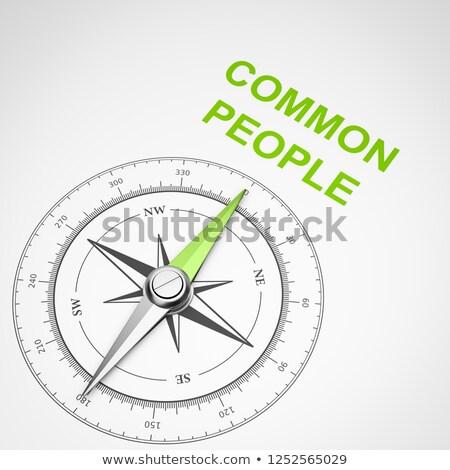 Kompas witte mensen magnetisch naald wijzend Stockfoto © make