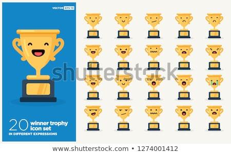 Cartoon sonriendo trofeo taza ilustración feliz Foto stock © bennerdesign
