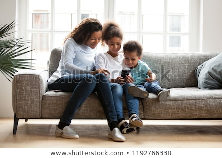 Woman Taking Care About Kids, Mother Son, Daughter Stock photo © robuart