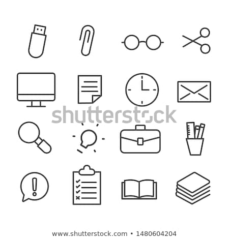 Office Book and Files Thought Bubble Set Vector Stock photo © robuart