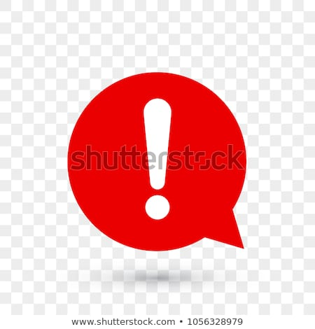 Exclamation mark sign in circle vector isolated on white background. icon for ui, website and label. Stock photo © kyryloff