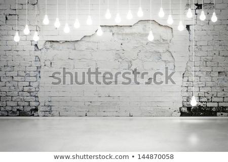 Design muro di mattoni lanterna illustrazione fuoco muro Foto d'archivio © colematt