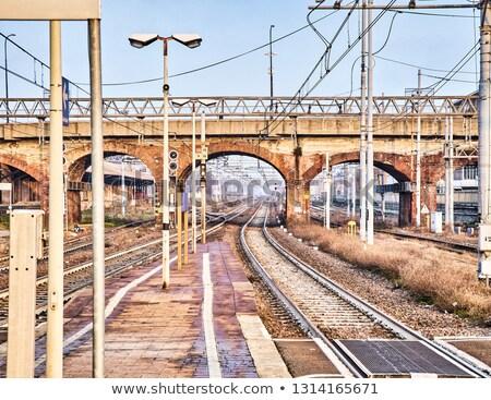 Chemin de fer briques pont européenne vieux gare Photo stock © Photooiasson